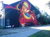Grafiti przy ul. Wiejskiej w Pabianicach